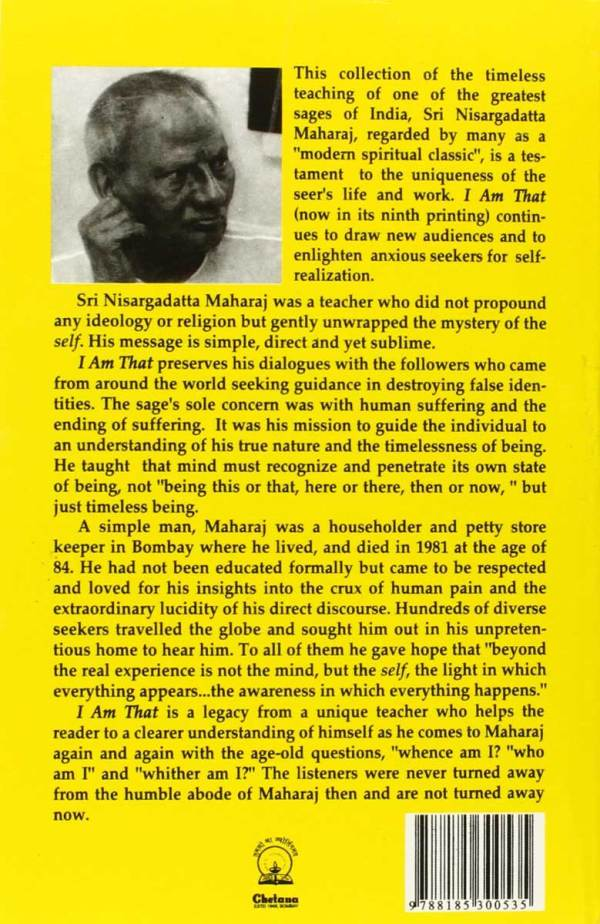 I Am That by Sri Nisargadatta Maharaj Book