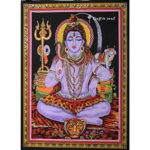 Meditative Shiva Tapestry