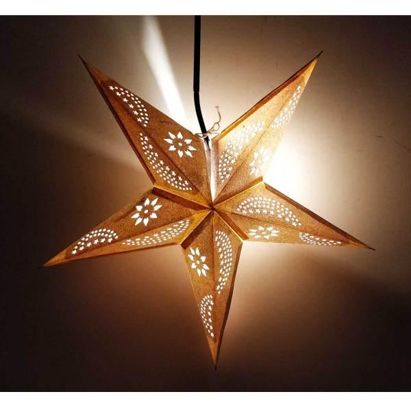 Star Glitter Lantern Silver Light up