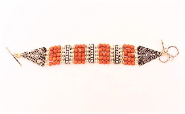 Sunstone stone bracelet