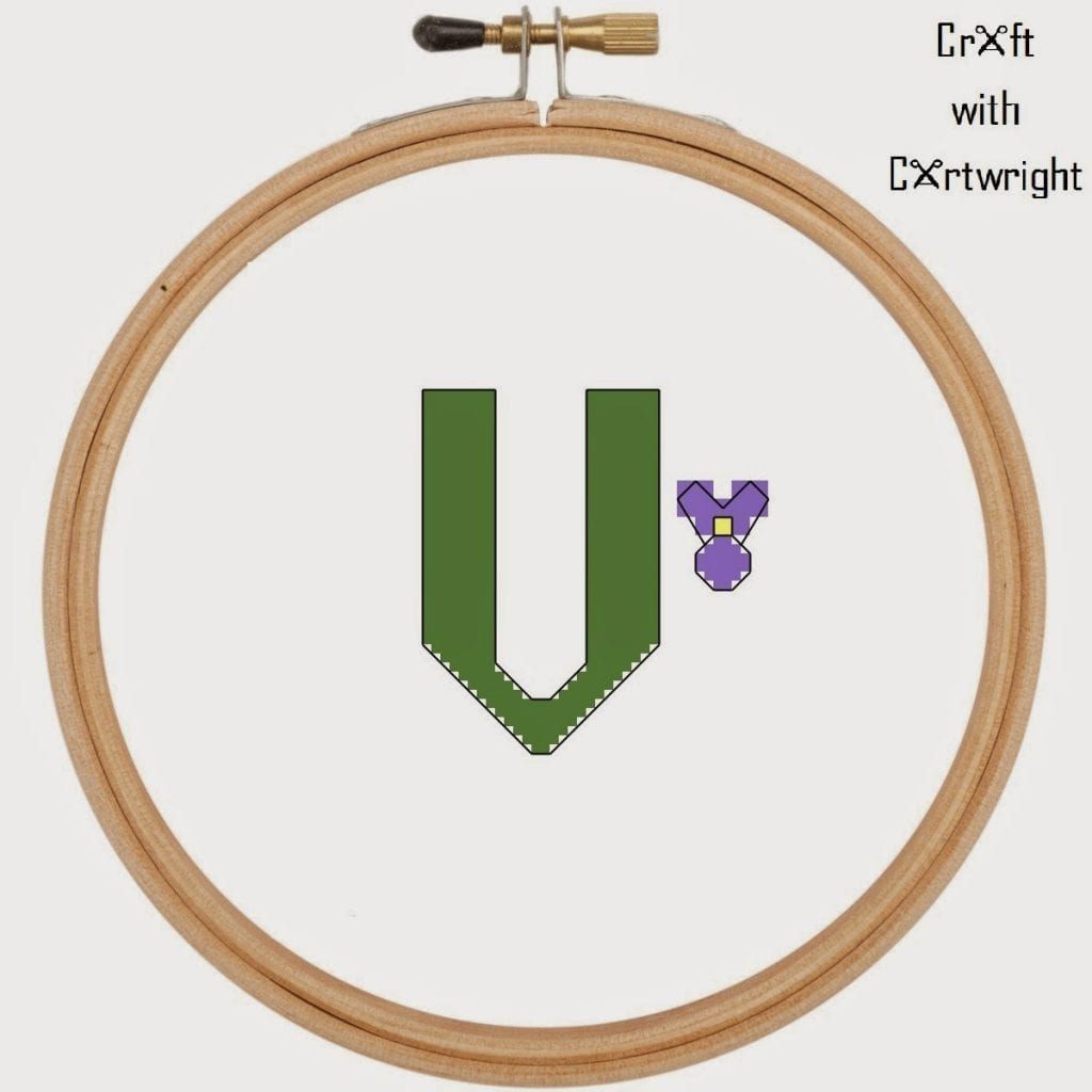 V Is For Violet Free cross stitch alph...
