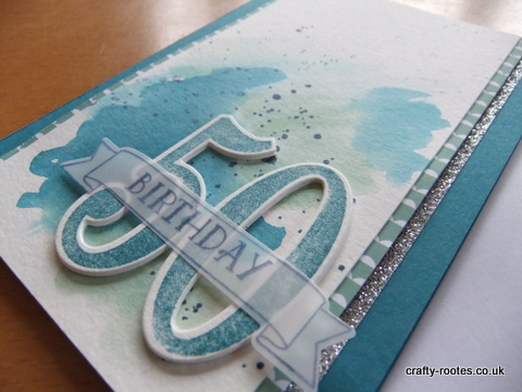 crafty-rootes.co.uk - Stampin Up Number of Years, water color, masculine card