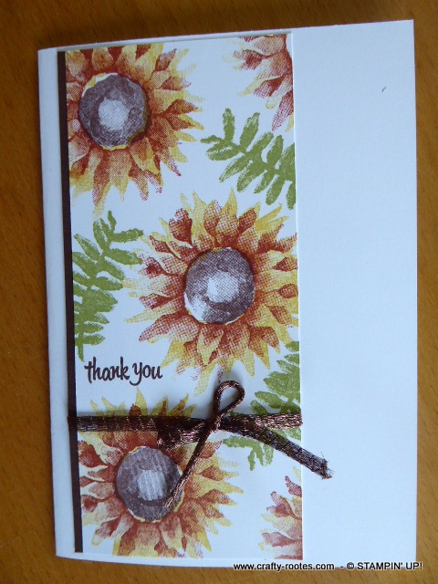 Autumnal thank you card using Painted harvest Stamp set