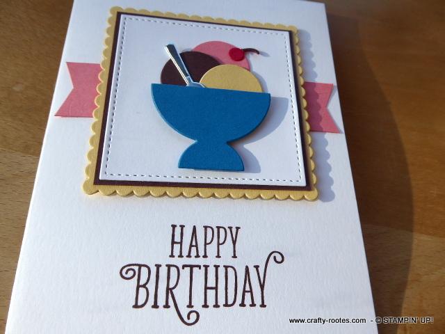 Luscious Neopolitan ice-cream birthday card