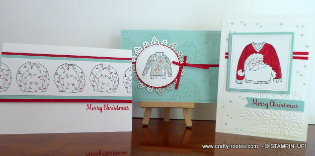 3 fun sweater themed Christmas cards