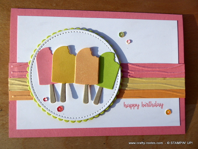 Sweet birthday card featuring ice lollies