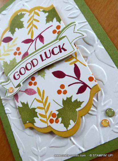 pretty Autumnal ggod luck card