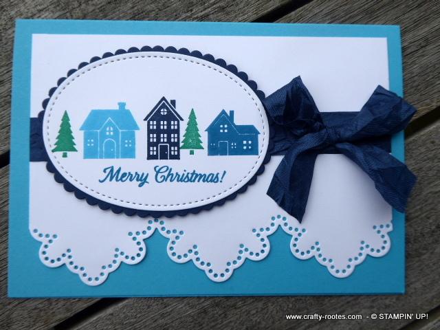 Seasonal stamped Christmas card