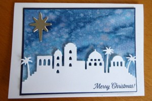 Christmas card featuring Stampin' Up! product