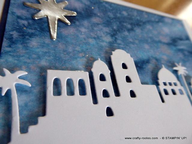 Lovely night sky for a Christmas card