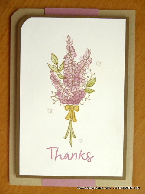 Soft bunch of lavender for a thank you card