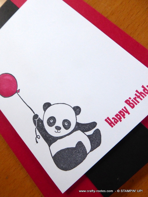 Sweet birthday card featuring a Panda