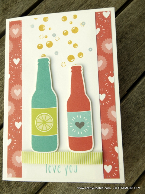 Bubbles and Bottles on a card