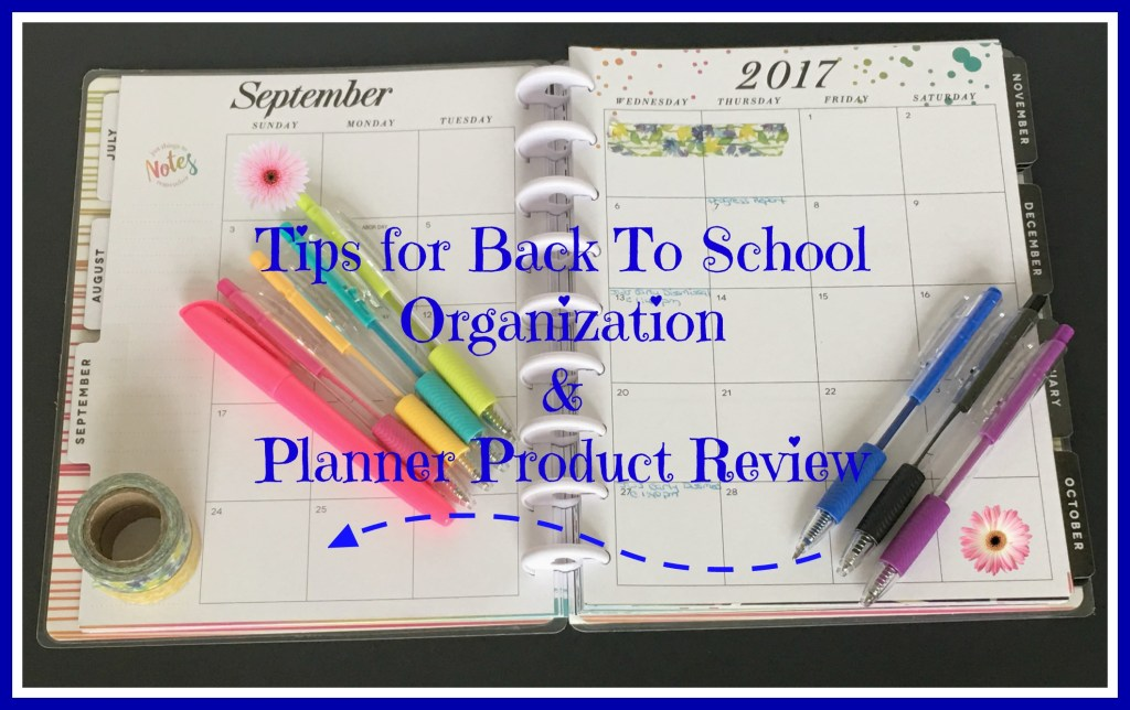 tips for back to school organization and planner product review