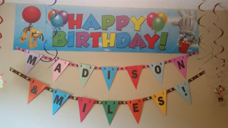 Mickey/Minnie Birthday Party