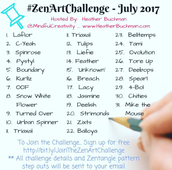 Zen Art Challenge with Mindful Creativity - Days 1 - 7