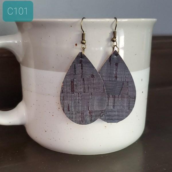 Blue Cork Earrings
