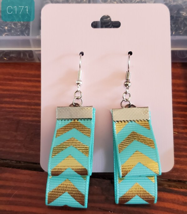 Double Looped Ribbon Earrings