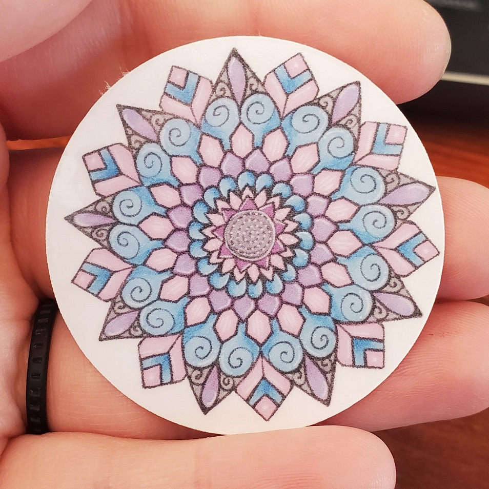 Blue and grey Mandala sticker
