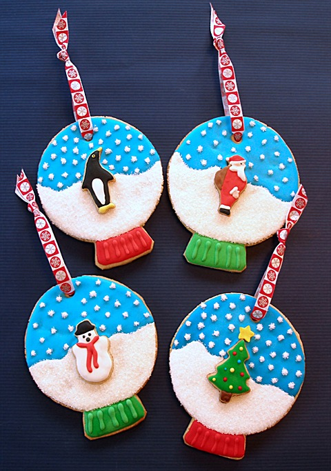 Snow Globe Cookie Ornaments CraftyBaking Formerly