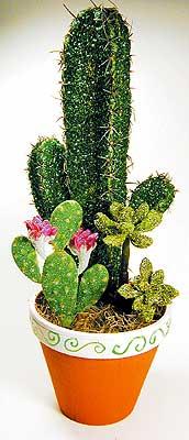 glittered-cactus