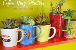 How to turn old mugs into planters by CraftyChica.com