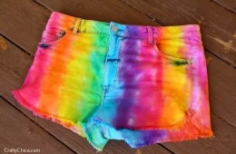DIY Rainbow shorts by CraftyChica.com