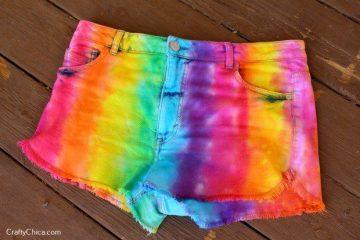 DIY Rainbow shorts by CraftyChica.com