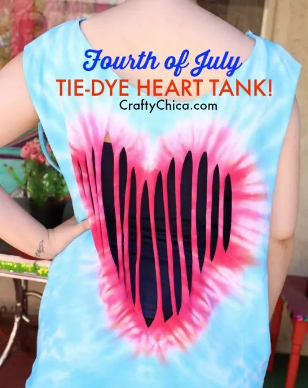 Tie-dye heart shirt by CraftyChica.com.