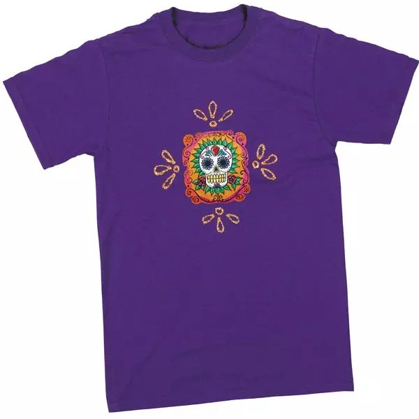 21 ways to make a skull shirt crafty chica festive flavor sugar skull t shirt by crafty chica pronofoot35fo Gallery
