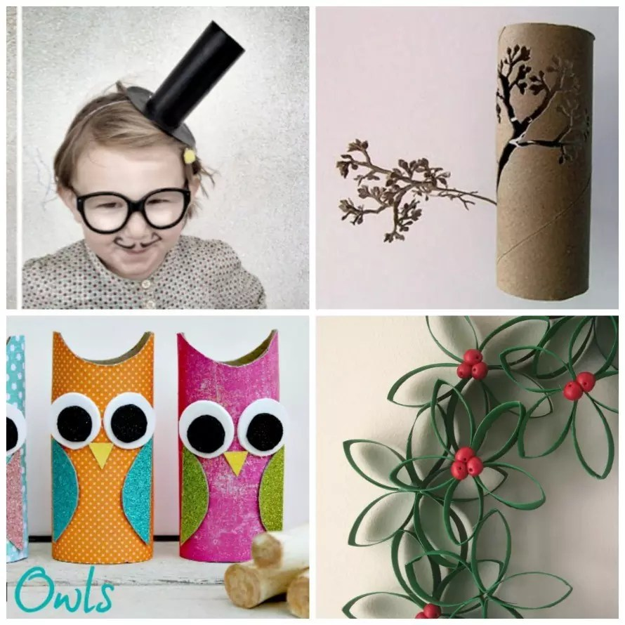 Toilet paper roll craft glittered halloween crowns for Toilet tissue roll crafts