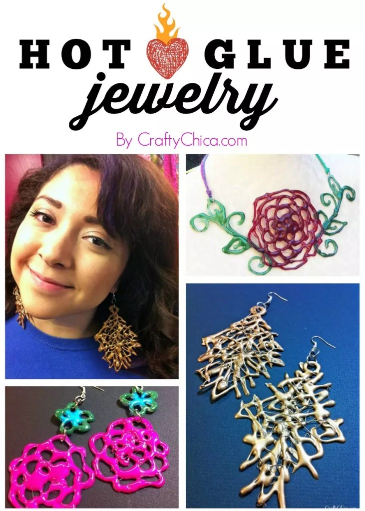 Hot glue jewelry the crafty chica for What kind of glue to use for jewelry