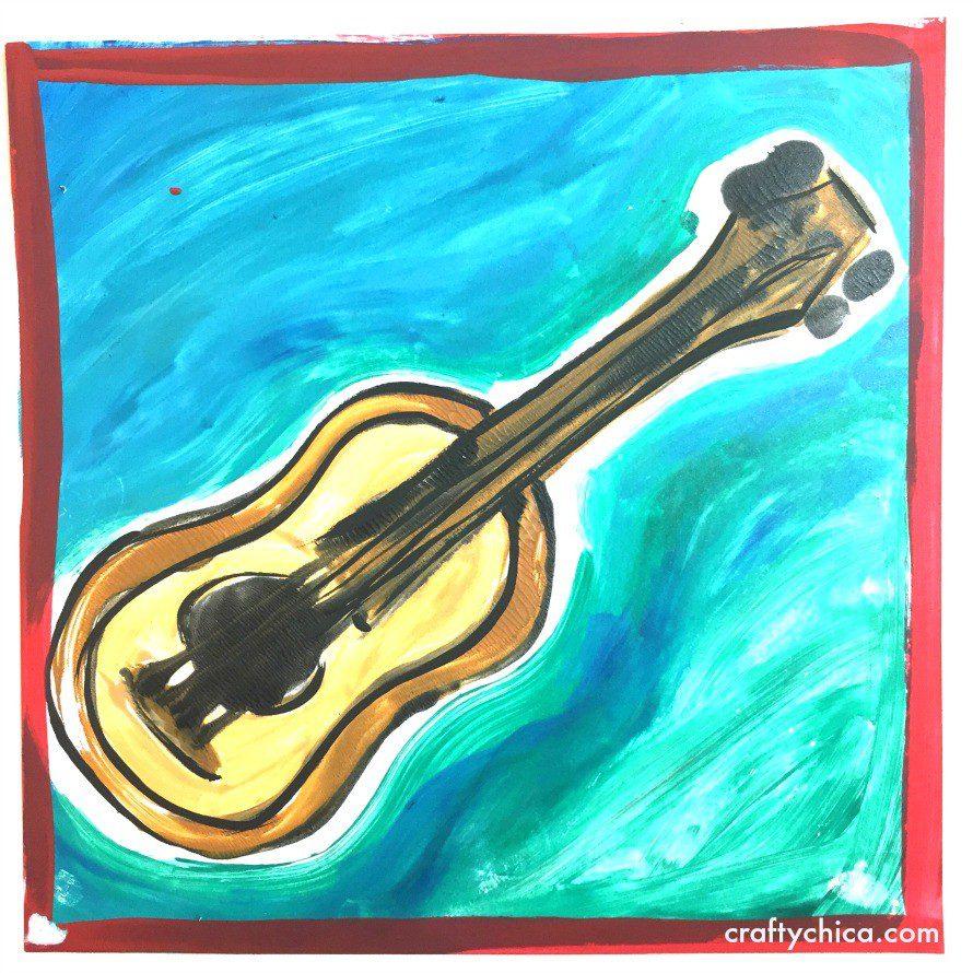 ukulele-monoprint