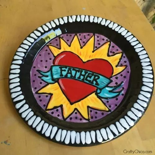 Painted Father's Day Plate - fired ceramics!