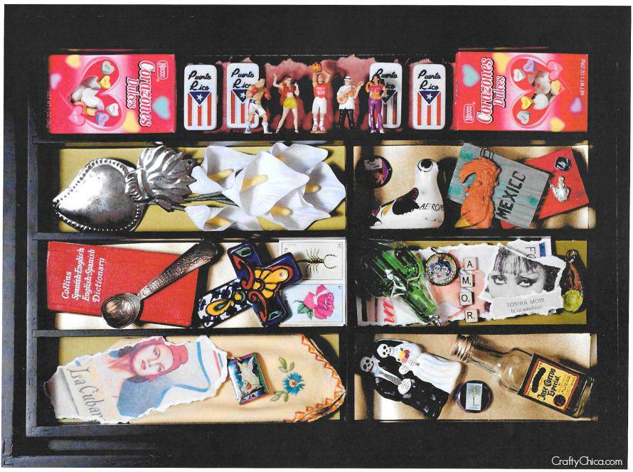 Turn a silverware tray into a shadowbox, by CraftyChica.com.