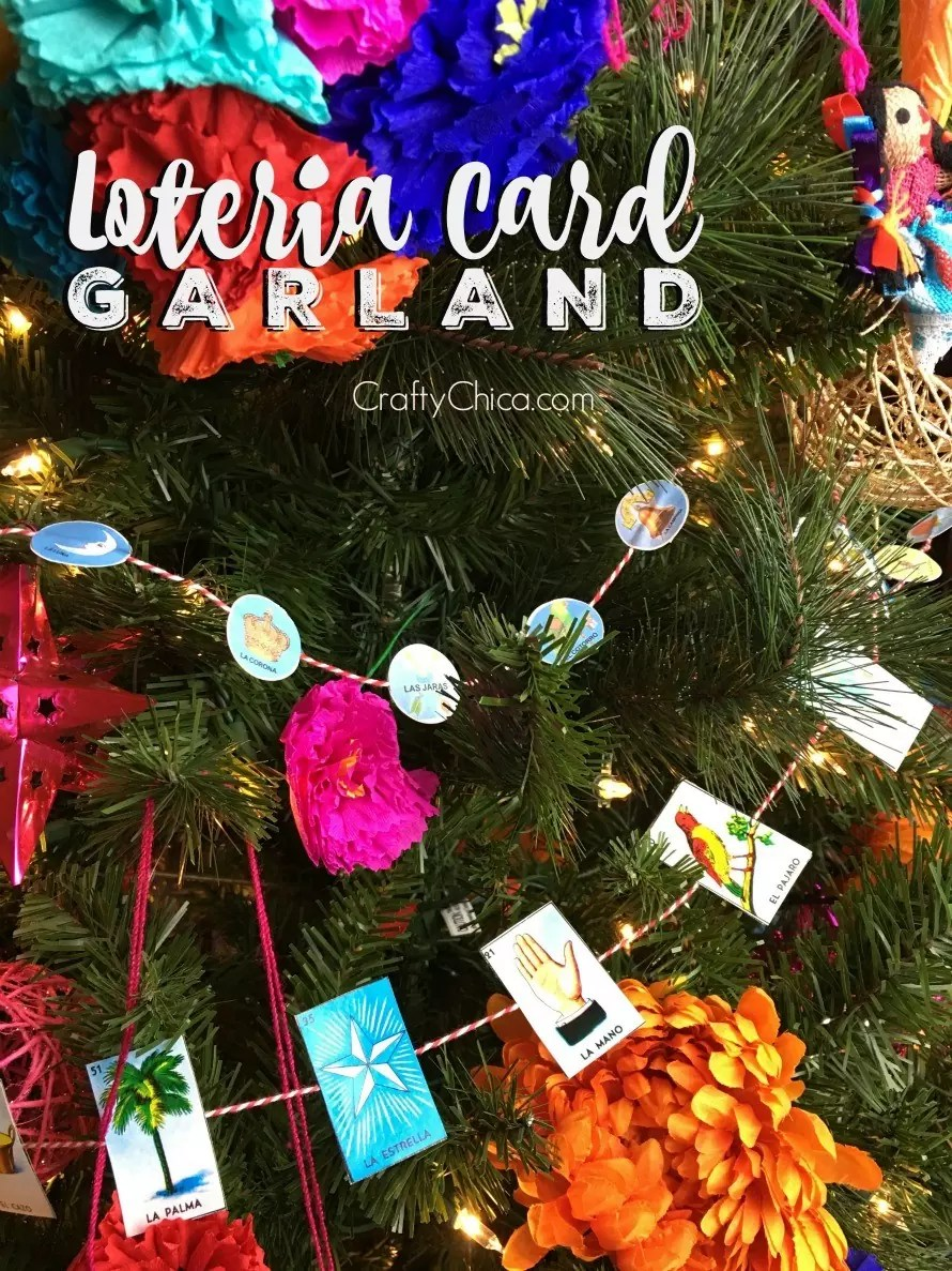 Loteria Card Garland by CraftyChica.com