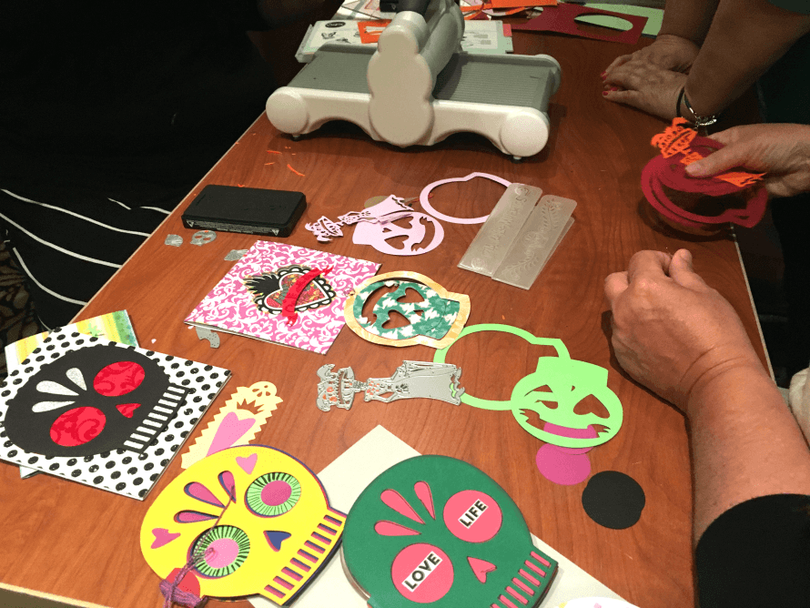 The cruisers were the first to try out the new Crafty Chica Sizzix product line.