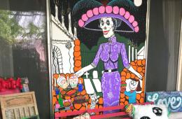 Muertos mural DIY, by CraftyChica.com