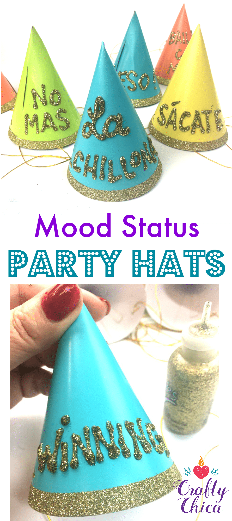 mood status' party hats - crafty chica™
