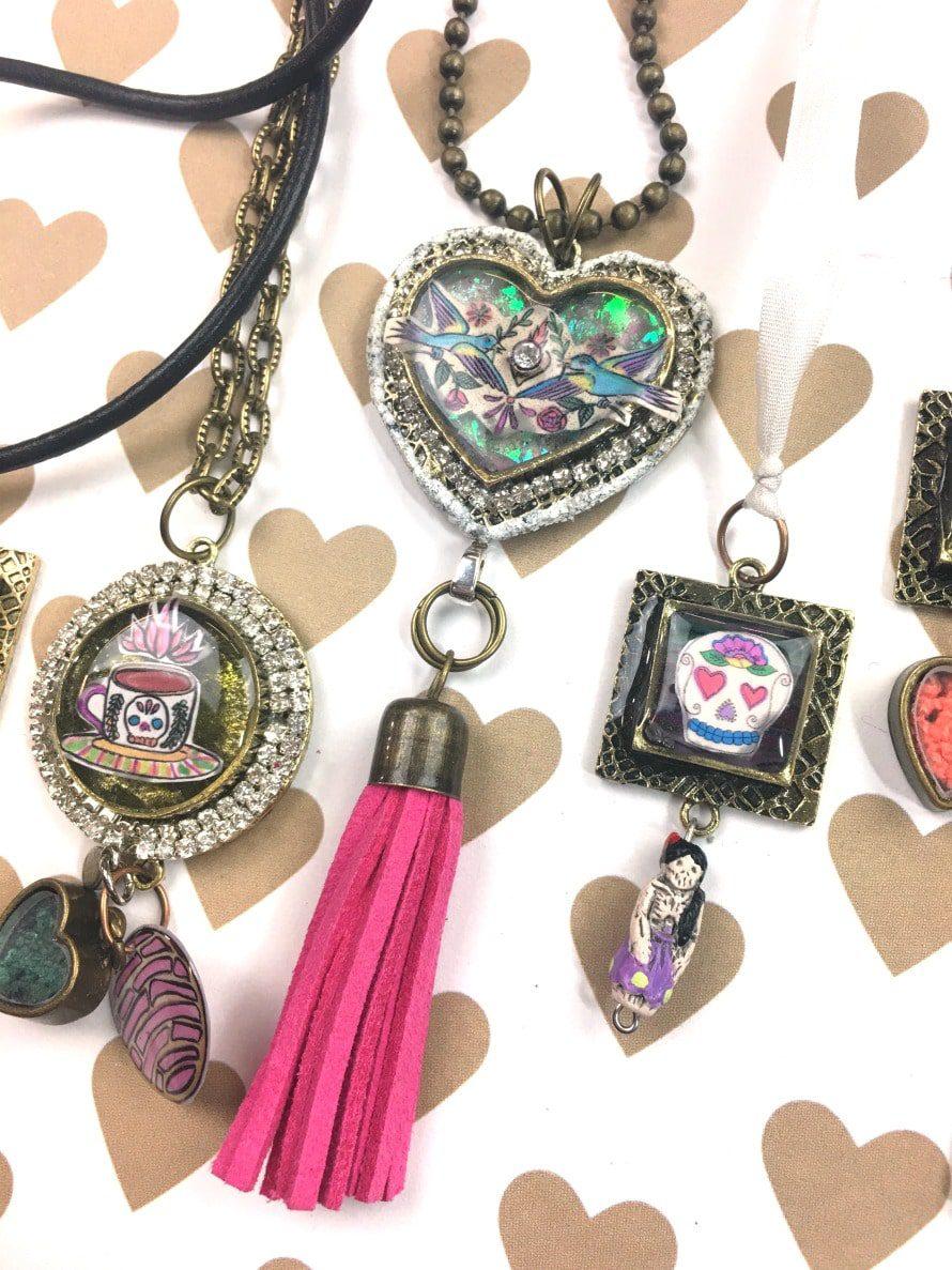 Resin jewelry by CraftyChica.com
