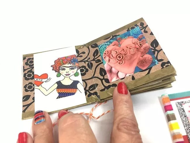 Make a mini book from a sheet of scrapbook paper, CraftyChica.com