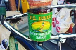 El Pato can bicycle drink holder