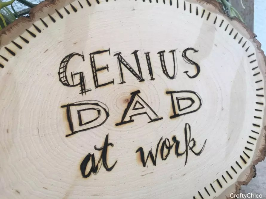 Wood burned sign DIY