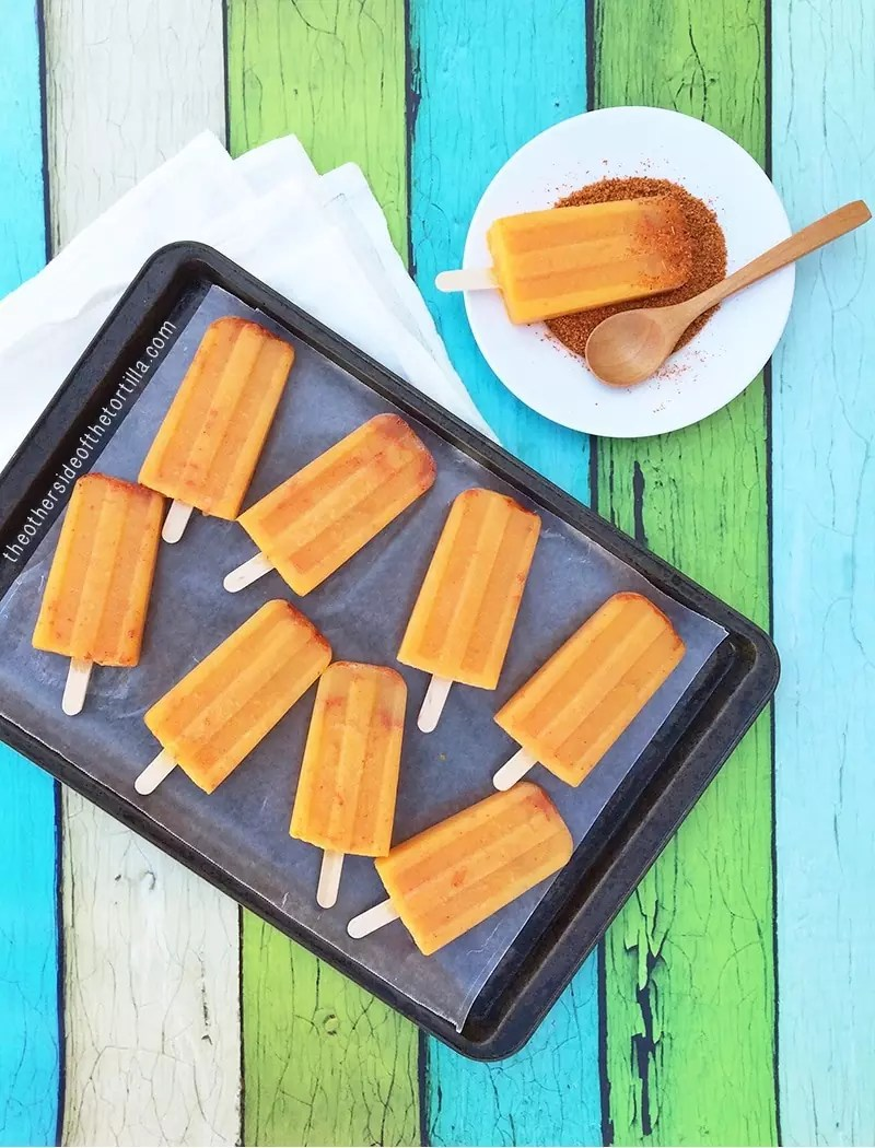 Mango Cantaloupe Paletas by Maura Hernandez