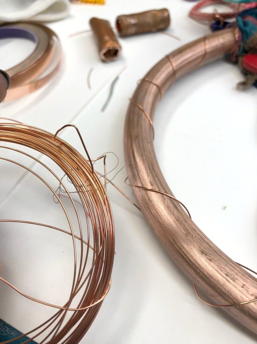 Copper & Ceramic Chime by CraftyChica.com