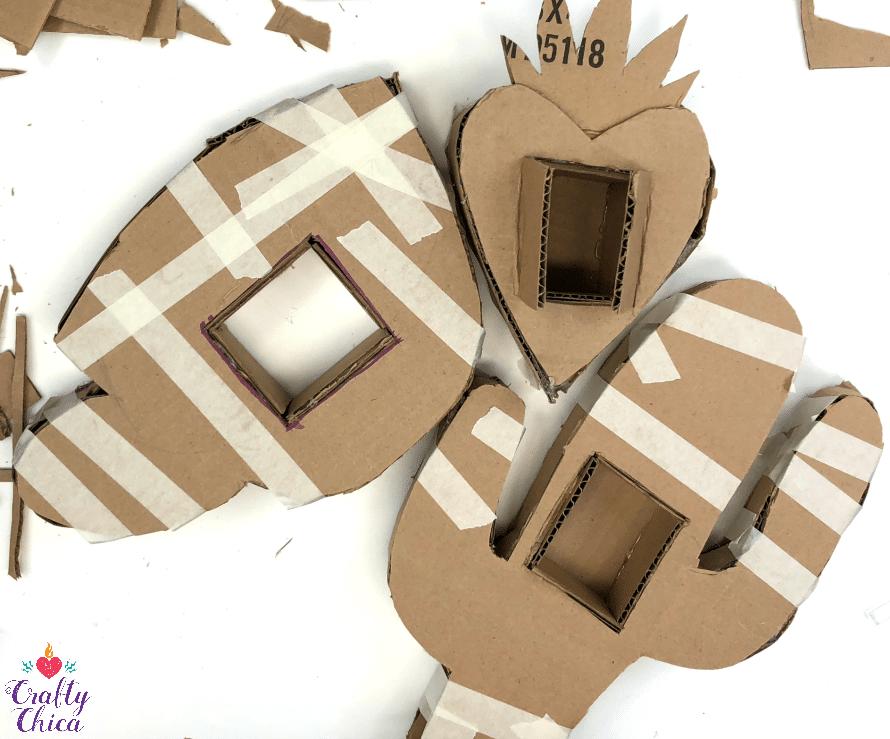 Piñata Craft: Photo frames by Crafty Chica