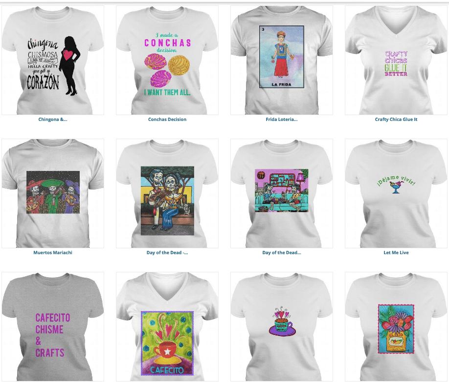 crafty chica t-shirt designs