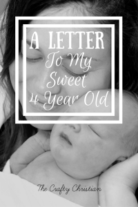 A Letter to my Sweet 4 Year Old
