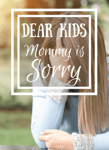 Dear Kids, Mommy is Sorry {Parenting with an Autoimmune Disease}
