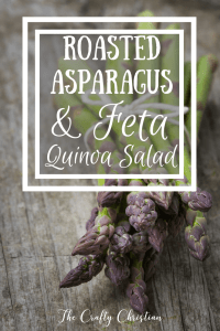 Roasted Asparagus & Feta Quinoa Salad {Recipe}